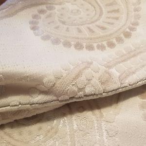 """Pier 1 cream textured velvety pillow cover 18"""""""